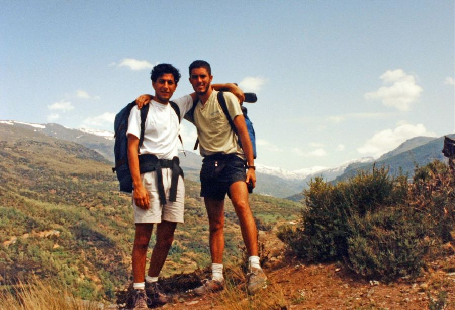 Tobin and I trekking in the Alpujarras, Andalusia Spain 1992