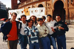 Clark, Tobin, Steve, Dan, Adam, Adam, me, and a local Madrid friend who's name I can't remember any longer!
