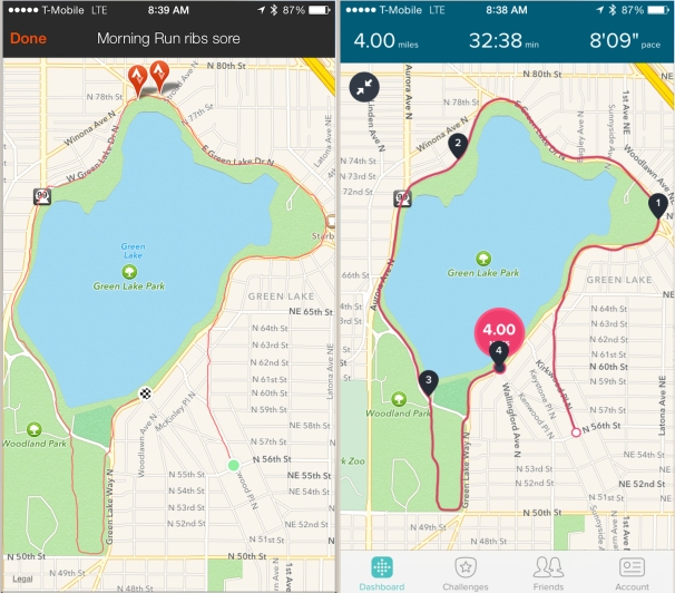 strava fitbit side by side