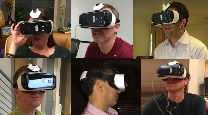 friends with VR Goggles On